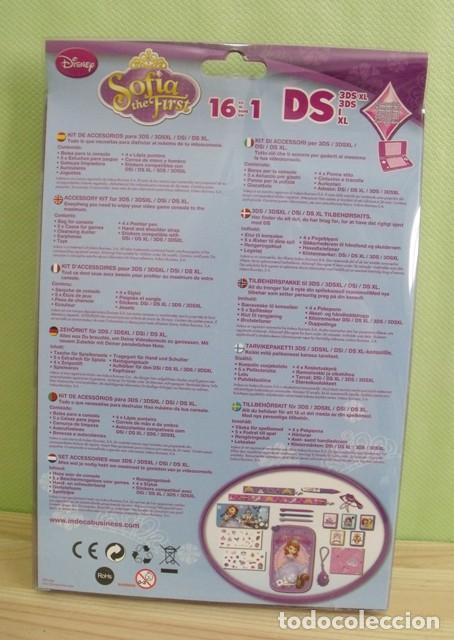 Videojuegos y Consolas Nintendo 3DS XL: Kit 16 Accesorios Nintendo 3DS / 3DSXL / DSI / DS XL Princesa Sofia - Disney - Nuevo Sin abrir - Foto 5 - 210625591