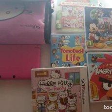 Videojuegos y Consolas Nintendo 3DS XL: -CONSOLA NINTENDO 3DS XL + 5 JUEGOS + FUNDA HELLO KITTY . EN PERFECTO ESTADO CASI SIN USO. Lote 218443443