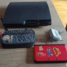 Videogiochi e Consoli: LOTE CONSOLA PS3 320 GB Y CONSOLA NINTENDO 3DS XL PARA REPARAR O DESPIECE. Lote 247681275