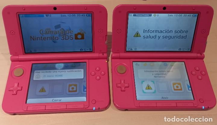 DOS CONSOLAS NINTENDO 3DS XL ROSE + CARGADOR + 2 TARJETAS MEMORIA 4 GB + DOS JUEGOS. ENVÍO GRATIS (Juguetes - Videojuegos y Consolas - Nintendo - 3DS XL)