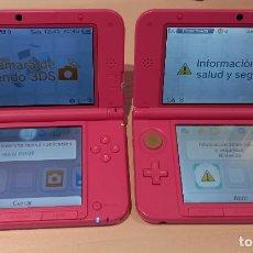 Videogiochi e Consoli: DOS CONSOLAS NINTENDO 3DS XL ROSE + CARGADOR + 2 TARJETAS MEMORIA 4 GB + DOS JUEGOS. ENVÍO GRATIS. Lote 268892299