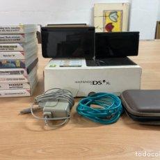Videojuegos y Consolas Nintendo 3DS XL: LOTE NINTENDO DS XL + CAJA ORIGINAL + NINTENDO DS + 9 JUEGOS + CARGADOR + FUNDA. Lote 297026343
