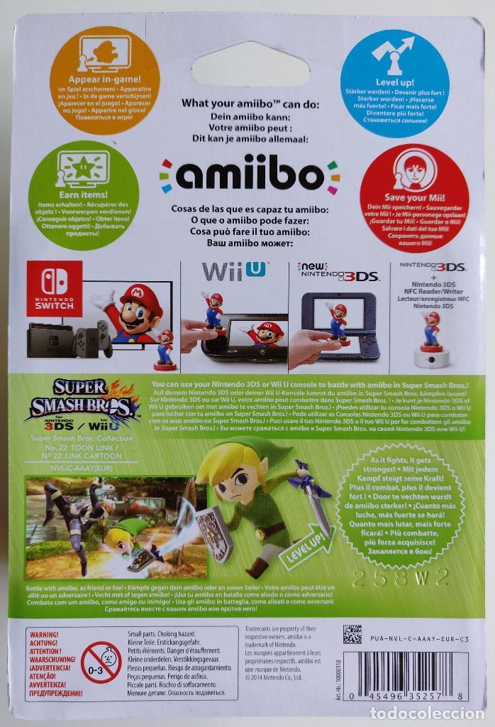 Videojuegos y Consolas Nintendo Switch: AMIIBO TOON LINK LEGEND OF ZELDA SUPER SMASH Nº22 - Foto 2 - 180847976