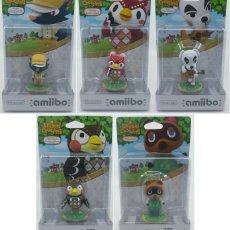 Videojuegos y Consolas Nintendo Switch: PACK DE 5 AMIIBO ANIMAL CROSSING, K.K., BETUNIO, CELESTE, SOCRÁTES, TOM NOOK. Lote 136226598