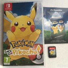 Videojuegos y Consolas Nintendo Switch: POKEMON LET'S GOT PIKACHU NINTENDO SWITCH KREATEN ESPAÑOL PORTUGUES. Lote 152335786
