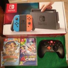 Videojuegos y Consolas Nintendo Switch: NINTENDO SWITCH CONSOLA NUEVA + MANDO + MARIO TENNIS ACES + DONKEY KONG COUNTRY FREEZE. Lote 173065524