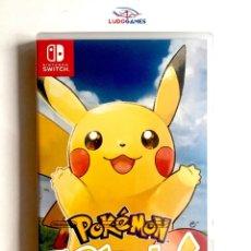 Videojuegos y Consolas Nintendo Switch: POKEMON LETS GO PIKACHU PRECINTADO NUEVO PERFECTO ESTADO PAL/ESPAÑA NINTENDO. Lote 180518935