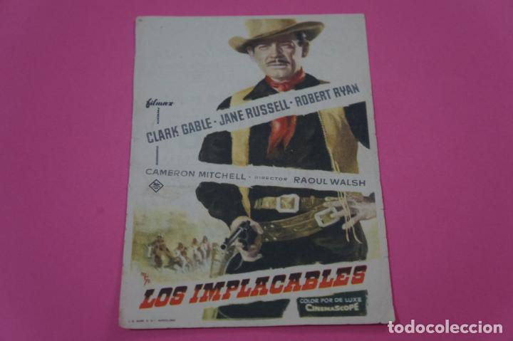 FOLLETO DE MANO PROGRAMA DE CINE LOS IMPLACABLES CON PUBLICIDAD LOTE 25 (Juguetes - Videojuegos y Consolas - Nintendo - Switch)