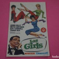 Videojuegos y Consolas Nintendo Switch: FOLLETO DE MANO PROGRAMA DE CINE LAS GIRLS CON PUBLICIDAD LOTE 25. Lote 187390482