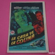 Jeux Vidéo et Consoles: FOLLETO DE MANO PROGRAMA DE CINE LA CASA DE LA COLINA CON PUBLICIDAD LOTE 25. Lote 187390603