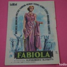 Jeux Vidéo et Consoles: FOLLETO DE MANO PROGRAMA DE CINE FABIOLA CON PUBLICIDAD LOTE 26. Lote 187396418