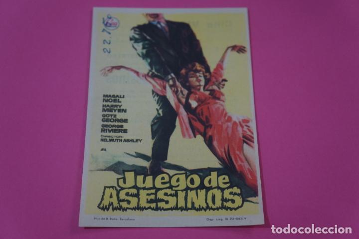 FOLLETO DE MANO PROGRAMA DE CINE JUEGO DE ASESINOS CON PUBLICIDAD LOTE 26 (Juguetes - Videojuegos y Consolas - Nintendo - Switch)