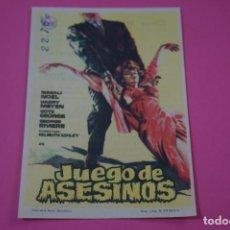 Jeux Vidéo et Consoles: FOLLETO DE MANO PROGRAMA DE CINE JUEGO DE ASESINOS CON PUBLICIDAD LOTE 26. Lote 187396678