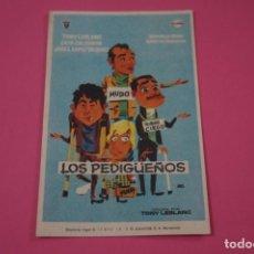 Jeux Vidéo et Consoles: FOLLETO DE MANO PROGRAMA DE CINE LOS PEDIGÜEÑOS CON PUBLICIDAD LOTE 26. Lote 187396733