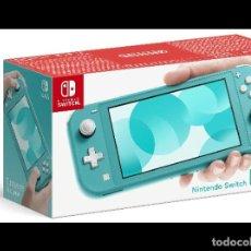 Videojuegos y Consolas Nintendo Switch: NINTENDO SWITCH LITE - AZUL TURQUESA - NUEVA DE 4/2020 - SIN ESTRENAR - SE REGALA JUEGO. Lote 201758666
