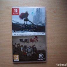 Videojuegos y Consolas Nintendo Switch: CHILD OF LIGHT ULTIMATE EDITION+VALIANT HEARTS: THE GREAT WAR - NUEVO. Lote 205583975