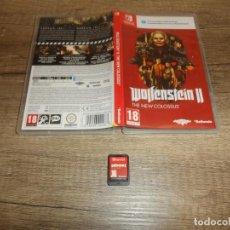 Videojuegos y Consolas Nintendo Switch: NINTENDO SWITCH WOLFENSTEIN II THE NEW COLOSSUS PAL ESP COMPLETO. Lote 220680922