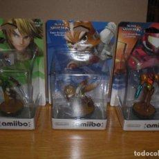 Videojuegos y Consolas Nintendo Switch: LOTE 3 FIGURAS NINTENDO AMIIBO PRECINTADAS,PRIMERAS EDICIONES 2014 - LINK, FOX, SAMUS - ZELDA SWITCH. Lote 221244157