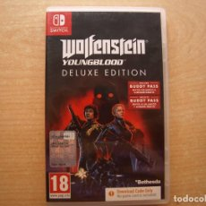 Videojuegos y Consolas Nintendo Switch: WOLFENSTEIN YOUNGBLOOD DE LUXE EDITION - NINTENDO SWITCH - CASI NUEVO. Lote 221338640