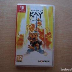 Videojuegos y Consolas Nintendo Switch: LEGEND OF KAY - ANIVERSARY - NINTENDO SWITCH - CASI NUEVO. Lote 221339165