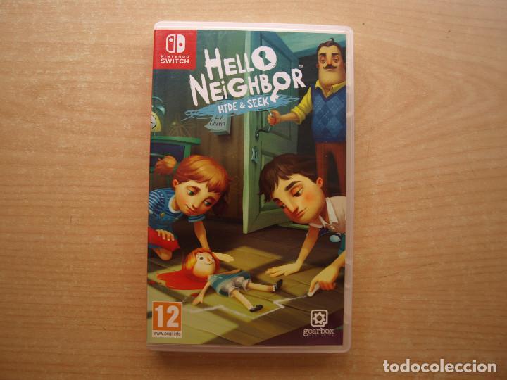 HELLO NEIGHBOR WIDE & SEEK- NINTENDO SWITCH - CASI NUEVO (Juguetes - Videojuegos y Consolas - Nintendo - Switch)