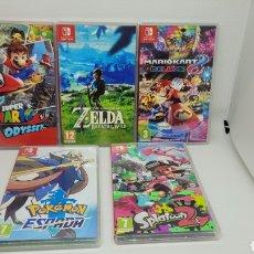 Videojuegos y Consolas Nintendo Switch: LOTE 5 CAJAS NINTENDO SWITCH. ZELDA. SUPER MARIO ODYSSEY. POKEMON ESPADA. VACIAS. NO GAME BOY.NO NES. Lote 238413485