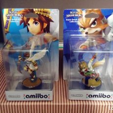 Videogiochi e Consoli: LOTE DE 2 AMIIBOS PRECINTADOS SMASH BROS: FOX Y PIT - NINTENDO AMIIBO SWITCH 3DS WIIU. Lote 248420280