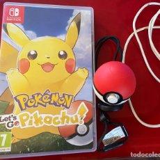 Videojuegos y Consolas Nintendo Switch: POKEMON PIKACHU LEST GO MÁS POKEBALL SWITCH NINTENDO. Lote 254728255