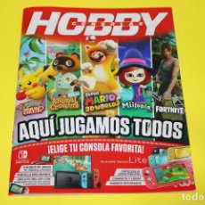 Videojuegos y Consolas Nintendo Switch: HOBBY CONSOLAS AQUÍ JUGAMOS TODOS - NINTENDO SWITCH - FORNITE MIITOPIA POKEMON 31 PÁG. 2021. Lote 272245698