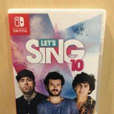 Videojuegos y Consolas Nintendo Switch: LETS SING 10 - SWI (2ª MANO - BUENO). Lote 288424833