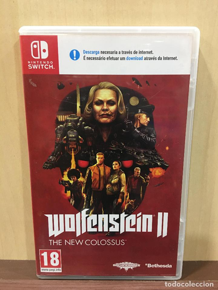 WOLFENSTEIN II - THE NEW COLOSSUS - SWI (2ª MANO - BUENO) (Juguetes - Videojuegos y Consolas - Nintendo - Switch)