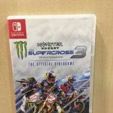 Videojuegos y Consolas Nintendo Switch: MONSTER ENERGY SUPERCROSS 3 - THE OFFICIAL VIDEOGA (2ª MANO - BUENO). Lote 288425003