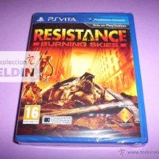 Videojuegos y Consolas PS Vita: RESISTANCE BURNING SKIES PAL ESPAÑA NUEVO Y PRECINTADO PLAYSTATION VITA. Lote 40262282