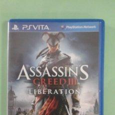 Videojuegos y Consolas PS Vita: ASSASSIN`S CREED III LIBERATION. Lote 94901875