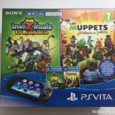 Videojuegos y Consolas PS Vita: PLAYSTATION VITA - CONSOLA + INVIZIMALS: LA RESISTENCIA + MUPPETS: THE MOVIE + TARJETA DE MEMORIA 8. Lote 107051431