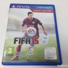 Videojuegos y Consolas PS Vita: FIFA 15 LEGACY EDITION. Lote 109122179
