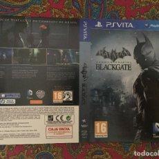 Videojuegos y Consolas PS Vita: SOLO PORTADA PSVITA PS VITA KREATEN BATMAN ARKHAM ORIGINS BLACKGATE BLACK GATE. Lote 116727283