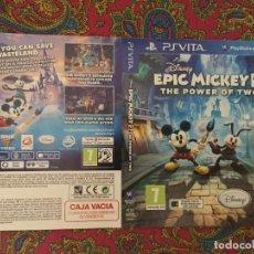Videojuegos y Consolas PS Vita: SOLO PORTADA PSVITA PS VITA KREATEN DISNEY EPIC MICKEY 2 THE POWER OF TWO EL PODER DE DOS HEROES. Lote 116727315
