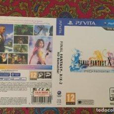 Videojuegos y Consolas PS Vita: SOLO PORTADA PSVITA PS VITA KREATEN FINAL FANTASY X | X2 HD REMASTER. Lote 116727367