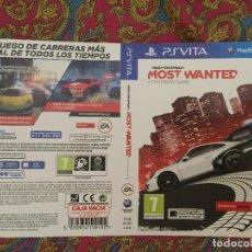 Videojuegos y Consolas PS Vita: SOLO PORTADA PSVITA PS VITA KREATEN NEED FOR SPEED MOST WANTED NFS. Lote 116727539