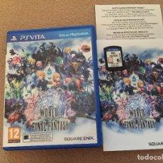 Videojuegos y Consolas PS Vita: WORLD OF FINAL FANTASY PS VITA CON MANUAL Y EN CASTELLANO SONY PSVITA KREATEN. Lote 120716527