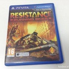 Videojuegos y Consolas PS Vita: RESISTANCE BURNING SKIES. Lote 124677195