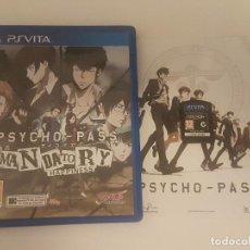 Videojuegos y Consolas PS Vita: PSYCHO-PASS MANDATORY HAPPINESS PLAYSTATION PS VITA COMPLETO PAL ESPAÑA. Lote 125339547
