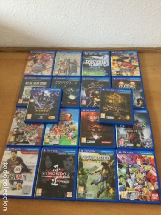 Videojuegos y Consolas PS Vita: Ps vita con 18 juegos y extras. - Foto 2 - 148018018