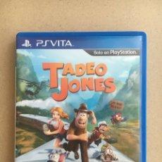 Videojuegos y Consolas PS Vita: PSVITA - TADEO JONES - JUEGO EXCLUSIVO DE ESPAÑA - ORIGINAL, COMPLETO. Lote 180859532