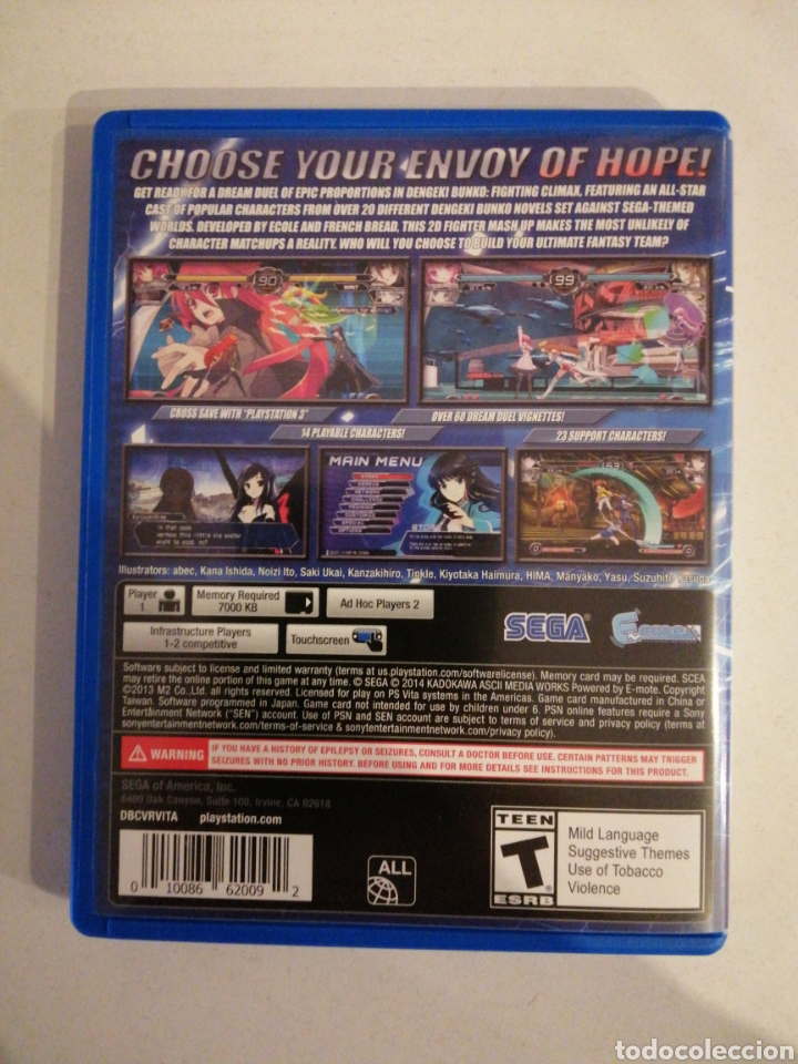 Videojuegos y Consolas PS Vita: DENGEKI BUNKO FIGHTING CLIMAX para PSVita - Foto 4 - 184008337