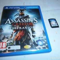 Videojuegos y Consolas PS Vita: ASSASSIN'S CREED III LIBERATION PLAYSTATION PS VITA . Lote 185936740