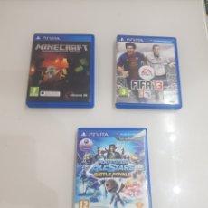 Videojuegos y Consolas PS Vita: LOTE 3 JUEGOS PSVITA. Lote 200014778
