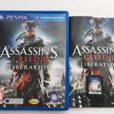 Videojuegos y Consolas PS Vita: ASSASSIN CREED III LIBERATION 3 ASSASSINS PSVITA PS VITA KREATEN. Lote 200298001