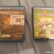 Videojuegos y Consolas PS Vita: JUEGO PSVITA SIN ABRIR PS VITA MINECRAFT Y INVIZIMALS. Lote 202778386